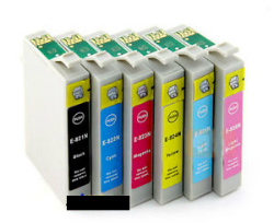 Any 12 x T0811-T0816 (81N) (V.6) compatible inkjet cartridges for Epson Inkjet Printers