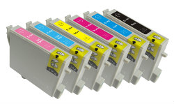 Epson Any 12 x T0491 - T0496  compatible inkjet cartridges