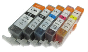 Canon CLI-521 Bk (1x Photo Black) Compatible Cartridge for Canon Pixma Printers- With Chip
