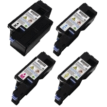 (Free Delivery) Any 4 x Dell 1250 (Full Set of 4 ) HY (2K/1.4K) Compatible toner cartridges for Dell 1250C / Dell 1350CNW / Dell 1355CN / Dell C1765NFW