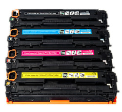 (Free Delivery) Any 4x HP CB540A - CB543A  (1 set of 4) Compatible laser toner cartridges for HP Laserjet CM1300/1312/CP1515