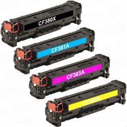 (Free Delivery) Any 4 x CF380X-CF383A (HP 312 X/A) (4 Colour)- Brand New Compatible toner cartridges for HP Printers Laserjet Pro M476dn MFP, M476dw MFP, M476nw MFP