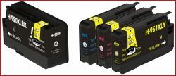 (Free Delivery) Any 4 x HP 950XL & HP 951XL Extra Capacity (1 set of 4 Colour) Compatible inkjet cartridges for HP Pro 251DW, 276DW,  8100-N811 / N811a, 8600 / 8600 Plus, 8610, 8620, 8630