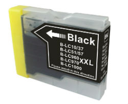 1x Extra Capacity Brother  LC-57 /LC37 (1 x Black) compatible Inkjet printer cartridge for Brother