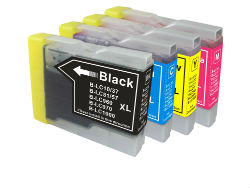 Extra Capacity Any 12 x LC-57 / LC-37 Brother Compatible inkjet cartridges