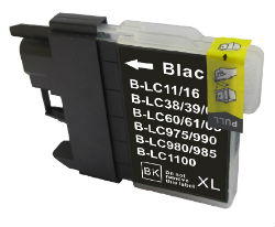 (Extra Capacity) Brother LC-38 /LC67 (1 x Black) compatible Inkjet printer cartridge for Brother (30ml)