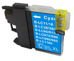 (Extra Capacity) 1x LC-39 (Cyan) Brother compatible Inkjet cartridges