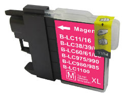 (Extra Capacity) 1x LC-39 (Magenta) Brother compatible Inkjet cartridges