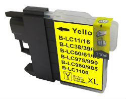 (Extra Capacity) Brother LC-38 /LC67 (1 x Yellow) compatible Inkjet printer cartridge for Brother (20ml)