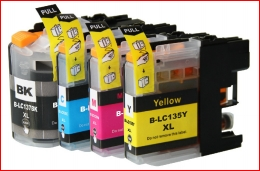 (Free Delivery) Any 12 x Brother LC-133 / LC-131 compatible Inkjet cartridges for Brother inkjet printers DCP-J152w, DCP-J172w, DCP-J552dw, DCP-J752dw, MFC-J245, MFC-J470dw, MFC-J475dw, MFC-J650w, MFC-J870dw