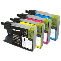 Any 12 x Brother LC-73 XL/LC-77 XL /LC-40 (Bk/C/M/Y) compatible Inkjet cartridges for Brother
