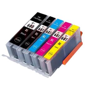 (Free Delivery) Any 10 x PGI-680XXL & CLI-681XXL (2/2/2/2/2=10) Compatible inkjet cartridges for Canon Pixma TR7560, TR7660, TR8560, TR8660, TS6160, TS6260, TS6360, TS6365, TS706, TS8160, TS8260,  TS8360, TS9160, TS9560, TS9565