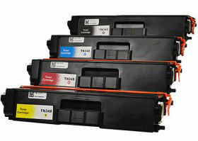 (Free Delivery) Any 4 x Brother TN-348  (4 colour) High Yield TN-340 Compatible Laser Toner Cartridges for Brother Colour Laser Printers