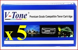 (Free Delivery) Any 5 x Oki C110 (4 colour) (2.5K HY) Brand New Compatible Toner Cartridge for Oki C110, C130, C130N, C130DN, MC160N