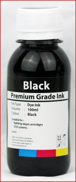Canon 100ml Bulk/ Refill Ink (1x Black) for Canon inkjet cartridges(PGI-525Bk, PGI-520, PGI-5Bk, BCI-3eBk, BC-02, BC-03, BX-3)