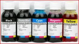 5 x Canon 100ml Bulk Refill Inks (5x Bk, Photo Bk, C, M,Y) for Canon (PGI-650 & CLI-651) ip7260, MG5460, MG6360, MX726 MX926