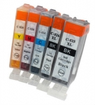 (Free Delivery) Any 18 x Canon PGI-525Bk/CLI-526 +CLI-526GY (18 Colour/With Chip) Compatible inkjet cartridges for Canon Inkjet printers
