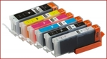 1 x Canon CLI-651 XLBk (Photo Black)  PGI-650BK Compatible inkjet cartridges (With Chips) for Canon Printers