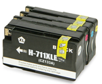 (Free Delivery) Any 4 x HP 711 (1/1/1/1=4) HY (80ml/30ml) CZ133A CZ130A CZ131A CZ132A Compatible inkjet cartridges for HP Designjet T120 T520