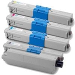 (Free Delivery) Any 4 x C332 (4 Colour)- Brand New Compatible toner cartridges for Oki C332DN, MC363DN