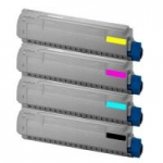 (Free Delivery) 4 x C612 (4 Colour)- Brand New Compatible toner cartridges for Oki C612 / C612N